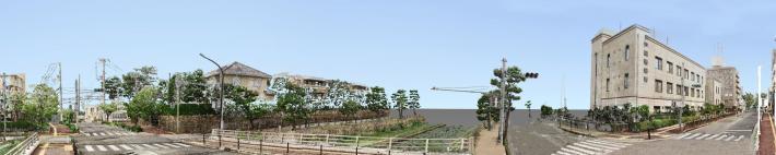 芦屋川地区3Dパノラマ